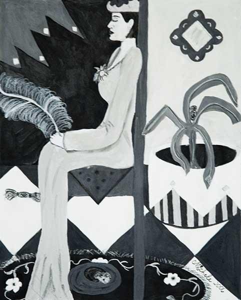 Michele Harte, Structure rythmique (Vers la sérénité), 31x25cm, acrylique