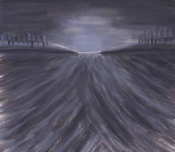 Mathieu CECCARELLI « Début ou fin de journée » 20x22cm acrylique sur papier