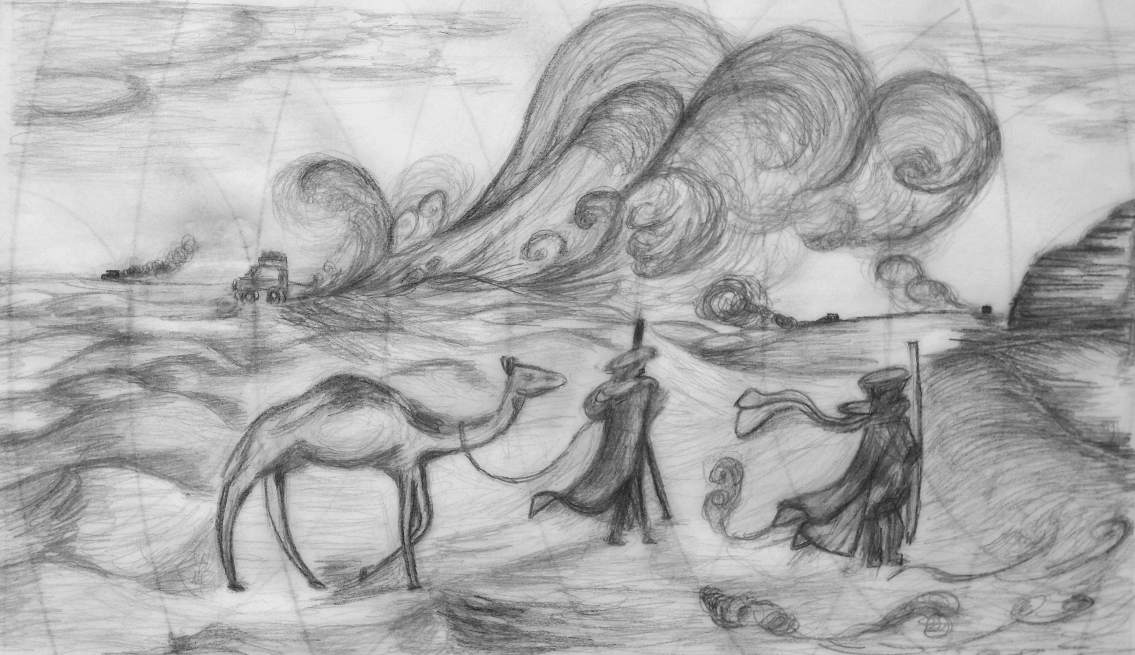 Philippe Rudaz, crayon, 21x30
