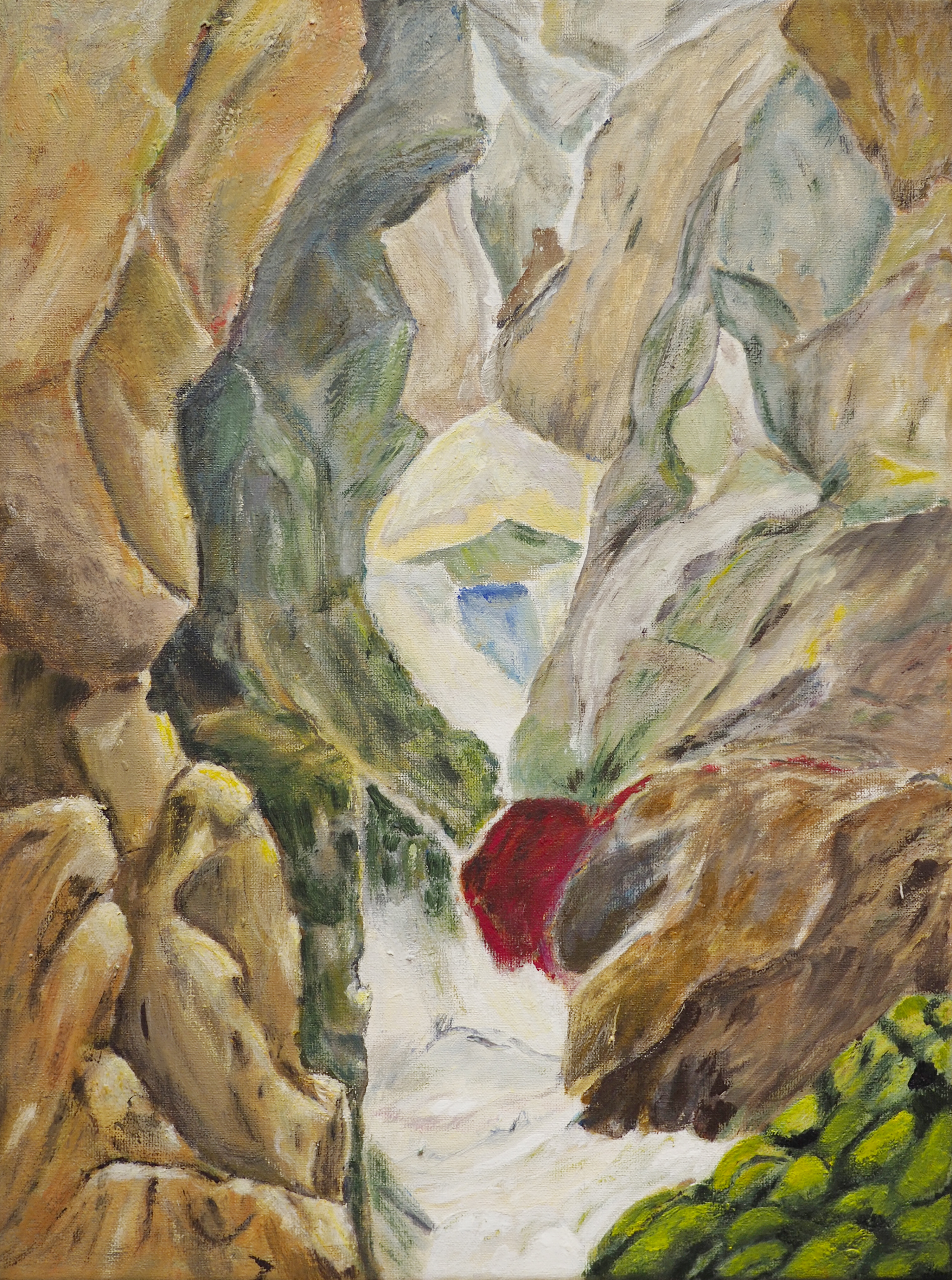 Lisette Lourenco, acrylique sur toile, 40x30
