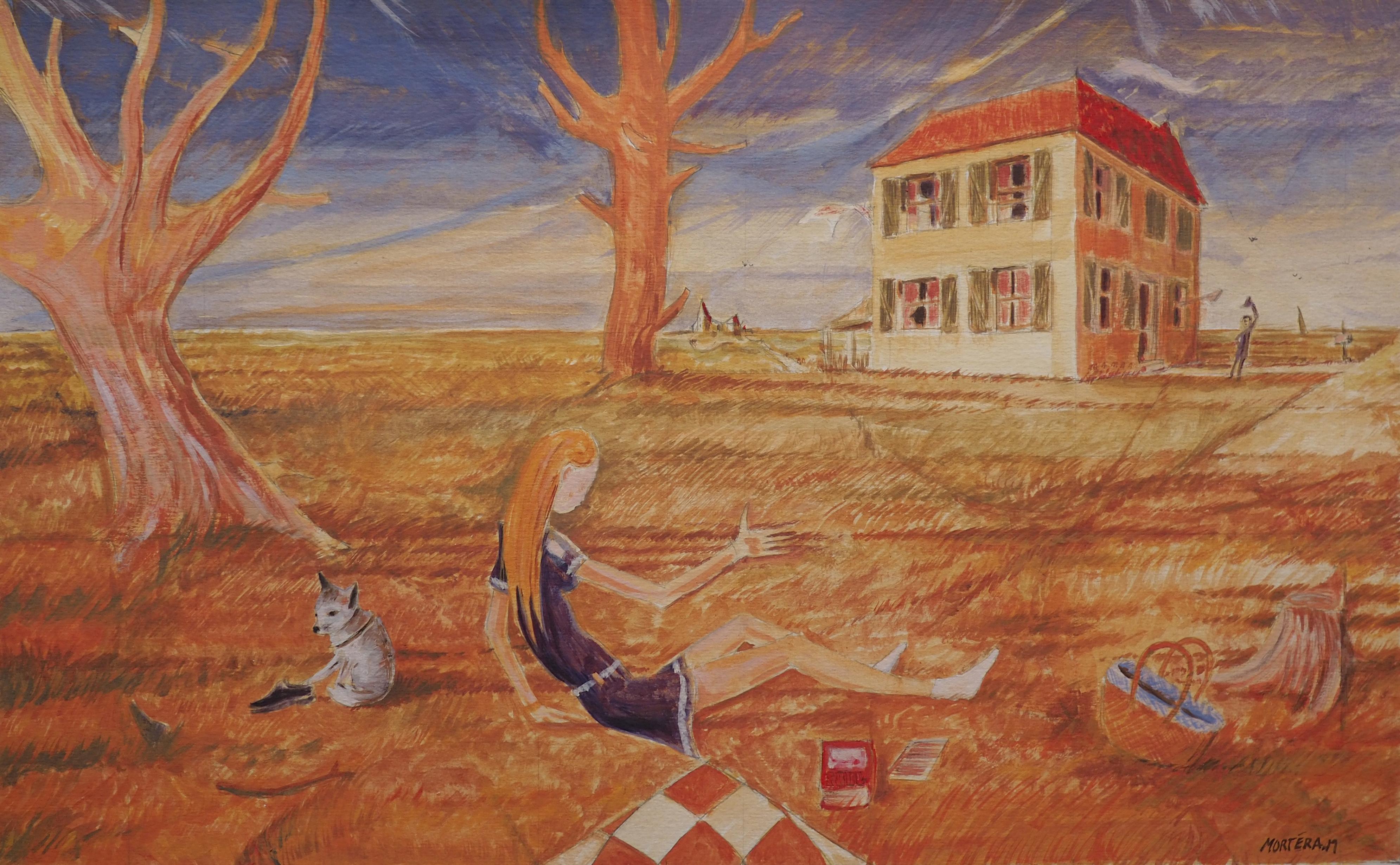 Marc Mortera, acrylique, 50x65