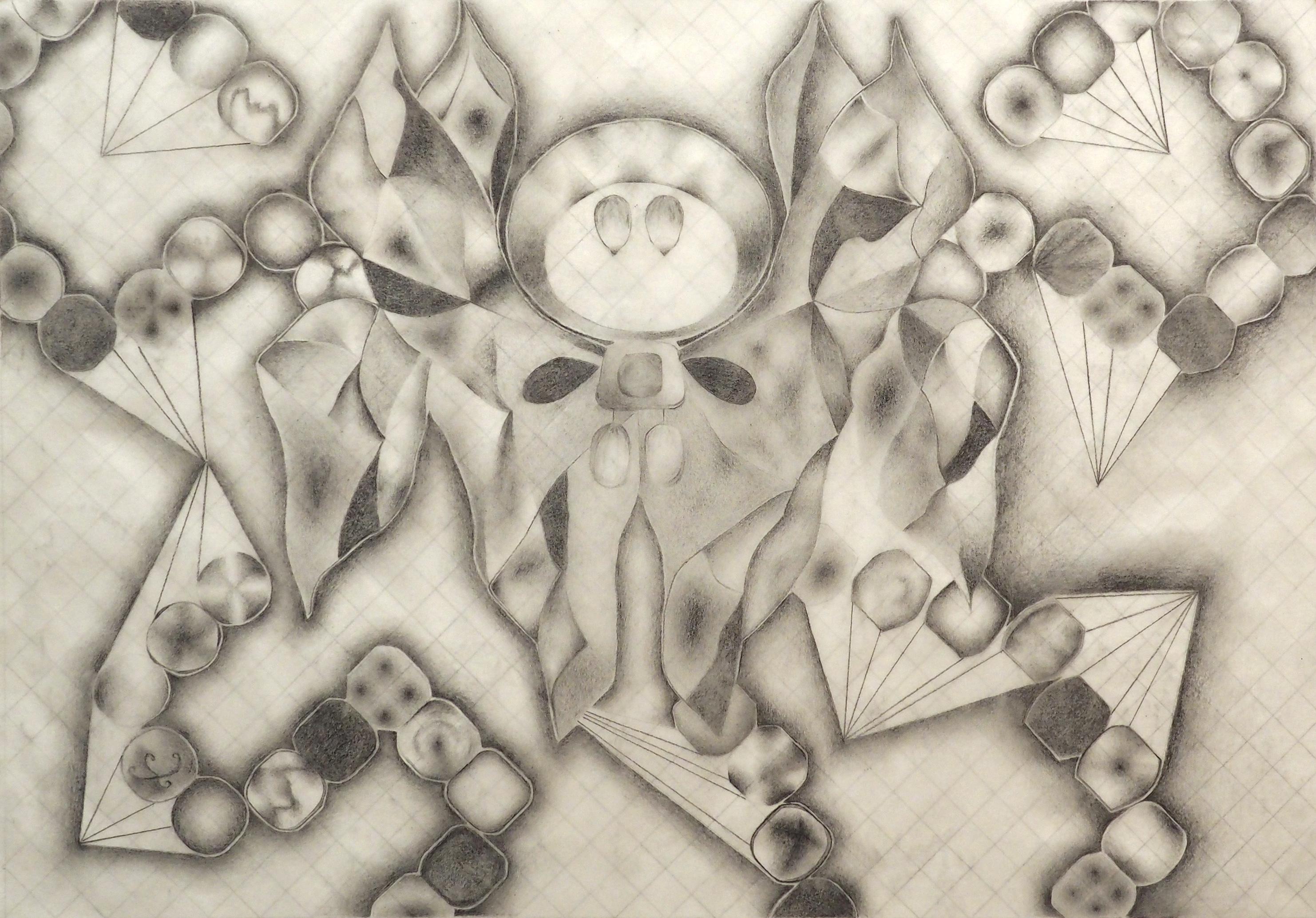 Fabien Stahelin, crayon sur calque, 28x39