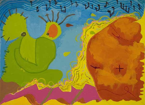 Paul Hegi, Structure avec animation rythmique (Aura), 26x36cm