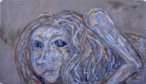 Cica Baba 60x104.5cm, huile sur toile, 2002