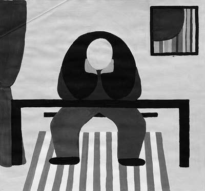 Claire Zutter, Acrylique, 48x44