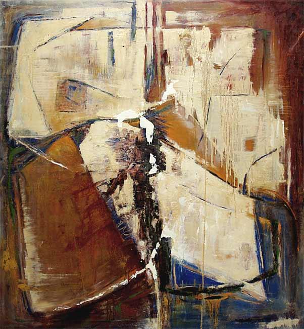 Composition, 1998 acrylique, 160 x 150cm