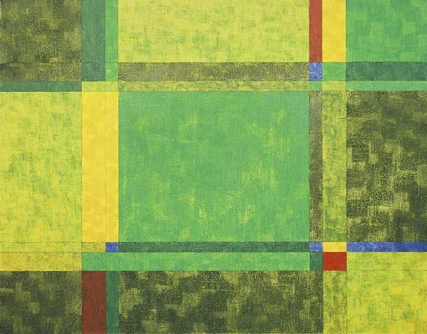 4 couleurs lévofuges, 2004 Huile sur toile, 79x127cm