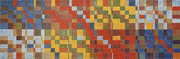 Country blues, 2004 Huile sur toile, 33x101cm