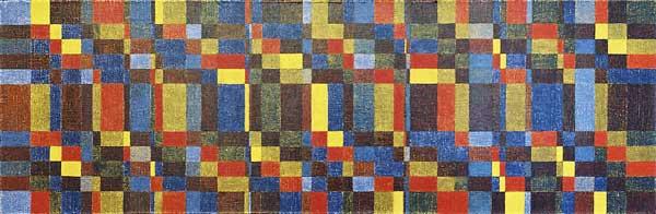 Blue blues, 2004 Huile sur toile, 33x101cm