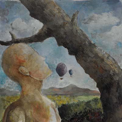 Pierrot Camacho, Acrylique, 28x28