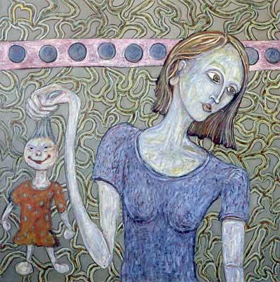 Tavol tart 100x100cm, huile sur toile, 2001