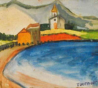 Pio Tournour, Gouache, 19x17
